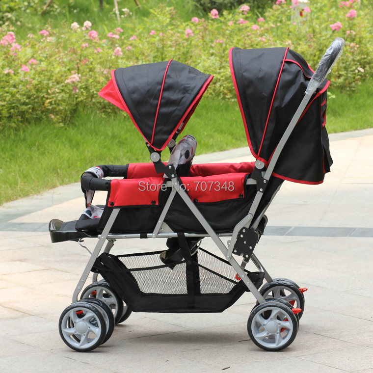 Twins Prams Double Buggy,CE Standard,Made in China,Double Baby Carriage,Two-point Safety Belt,Free Shipping,Drop Shipping(China (Mainland))