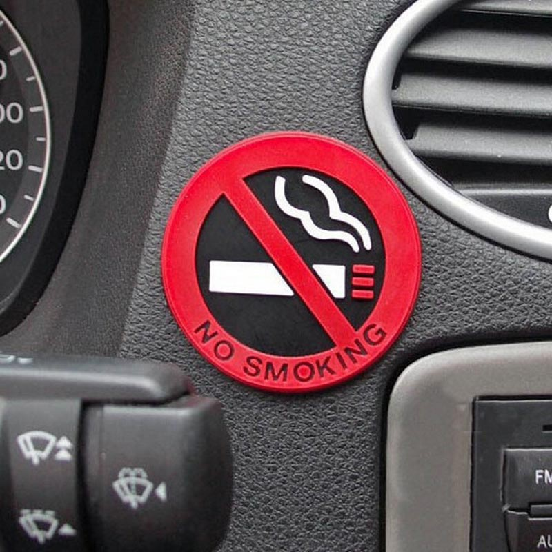 car-styling Glue Sticker for ford vw peugeot opel Warning No Smoking Logo Car Stickers Easy To Stick For renault mazda golf 4(China (Mainland))