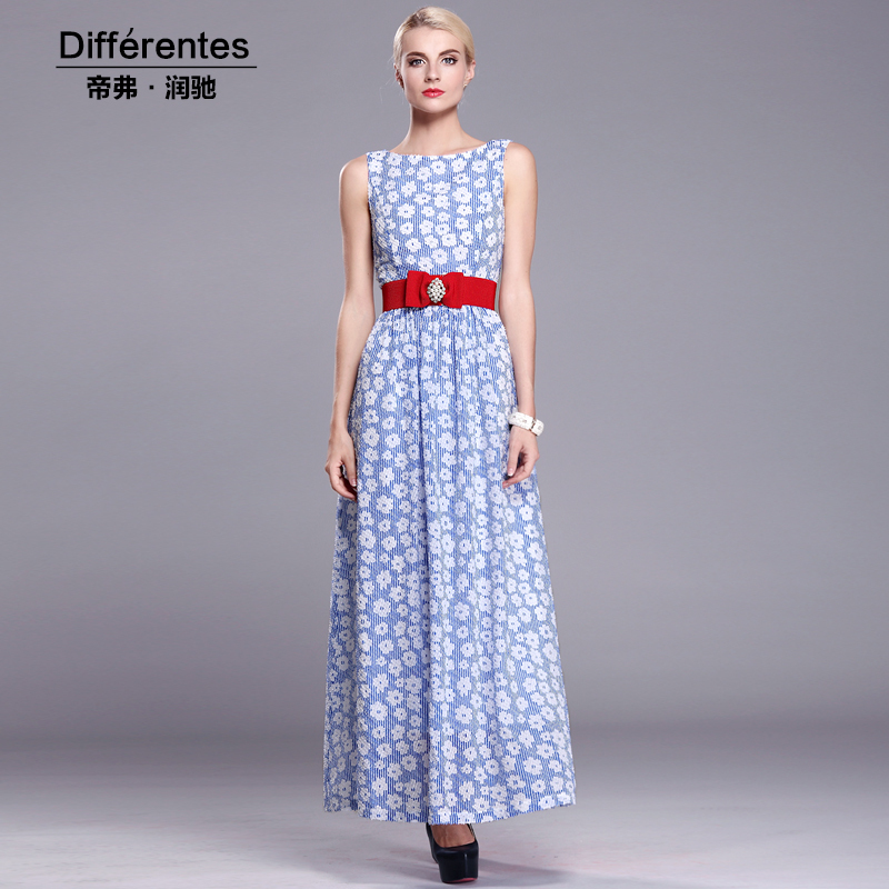 Differentes women long dress Collar thin summer 2015 street goddess temperament section paragra - Baby ! What color do you like ? store