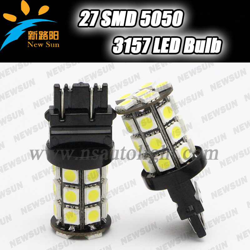 3157 P27/7W 5050 SMD car LED Brake Light Bulbs 3.6W 12V White red yellow blue green 3157 led reverse Tail Stop Signal light bulb(China (Mainland))