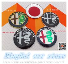2pcs 74mm Black white new ALFA ROMEO  for Mito 147 156 159 166 Giulietta Spider GT Car Logo emblem Badge sticker(China (Mainland))