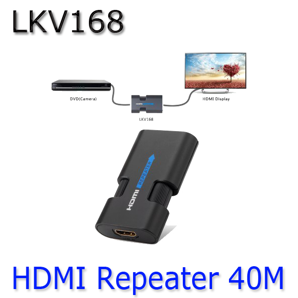 LKV168 4K x 2K HDMI Repeater / Booster Digital HDMI extender with Surge Protection for HD Video Processing up to 40M(China (Mainland))