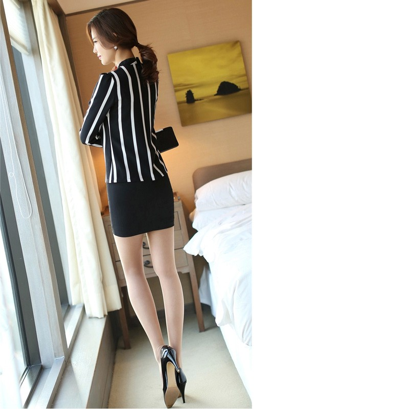 New Korean Style Fashion Cute Hollow Out Long Sleeve Striped Bodysuit Chiffon Blouse Plus Size Women Office Shirts And Tops
