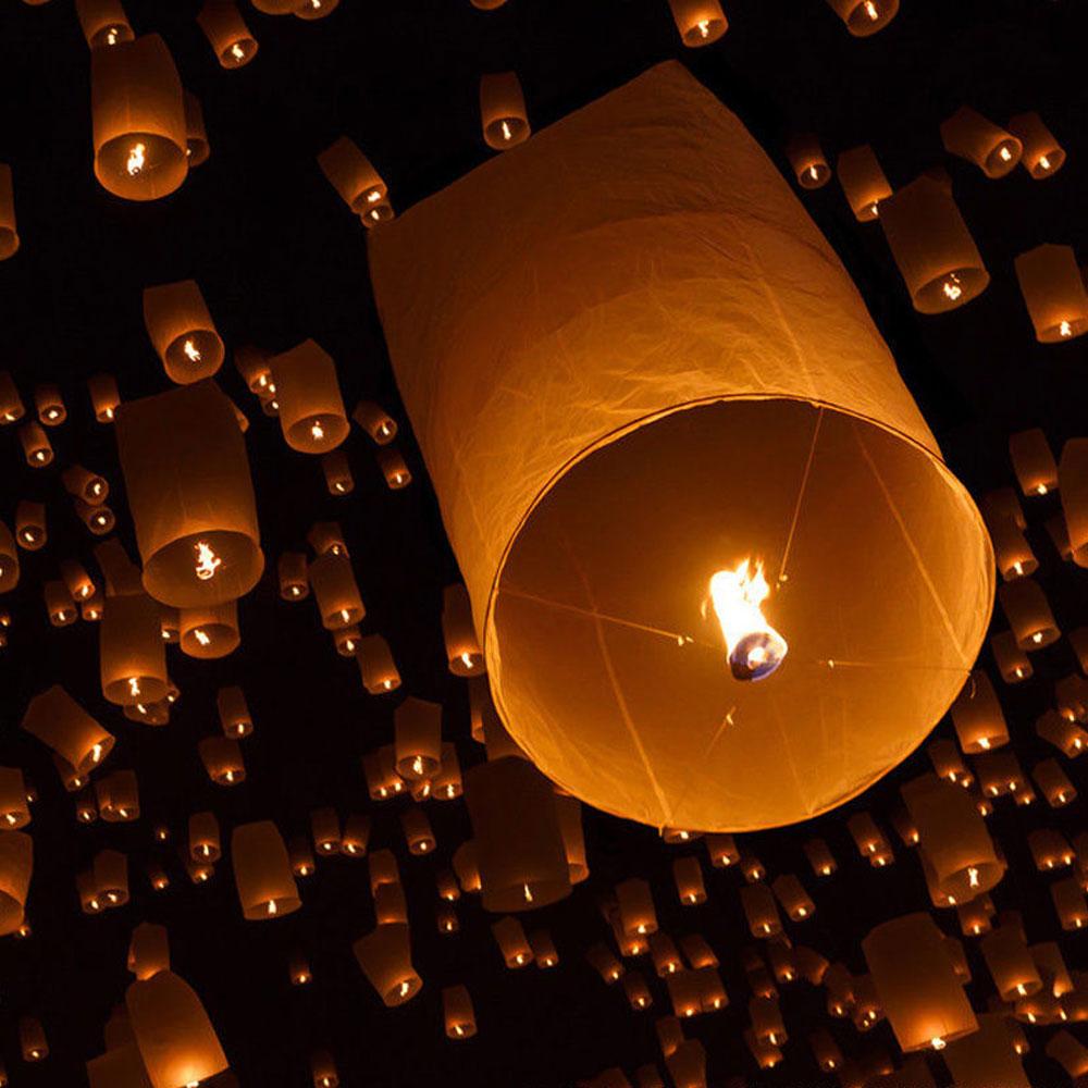 2016 10PCS/Lot Creative Chinese Kongming Wishing Lantern Flying Sky Balloon Lantern Paper Lantern Lamp Chinese Sky Lanterns(China (Mainland))
