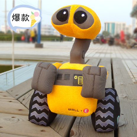 Hot Sale Vivid 28cm WALL-E Plush Robot Toys for Boys as Birthday Gifts 1pc/lot, Stuffed WALL-E Robot Toy for Baby Free Shippig(China (Mainland))