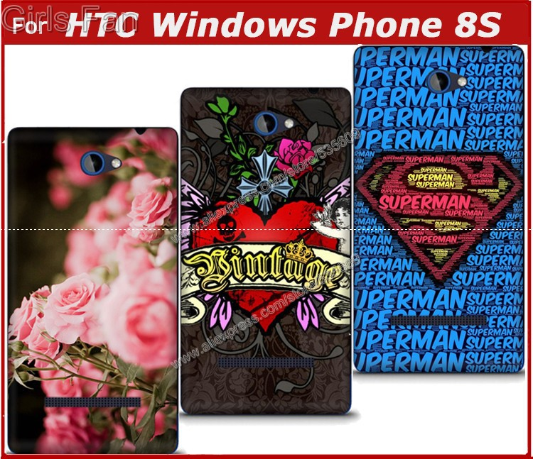 For HTC Windows Phone 8S A620e case,Painted phone case, roses cute animals back cover case For HTC Windows Phone 8S A620e(China (Mainland))