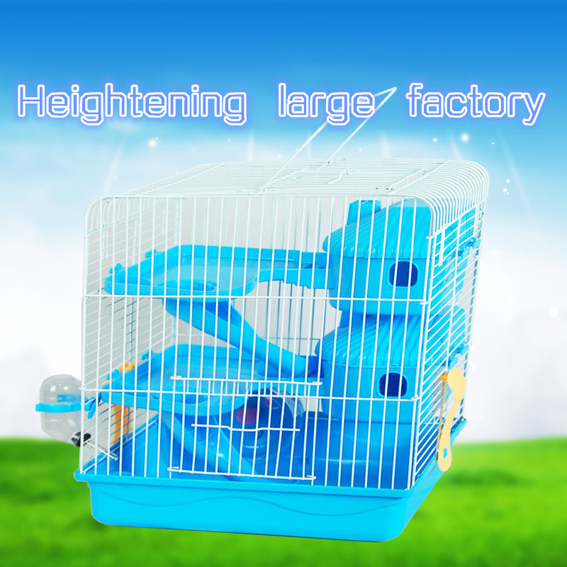 2015 New Free shipping The cage hamster Iron wire Pet Cage Pet supplies The cage Heightening Three layers hamster Sleep the room(China (Mainland))