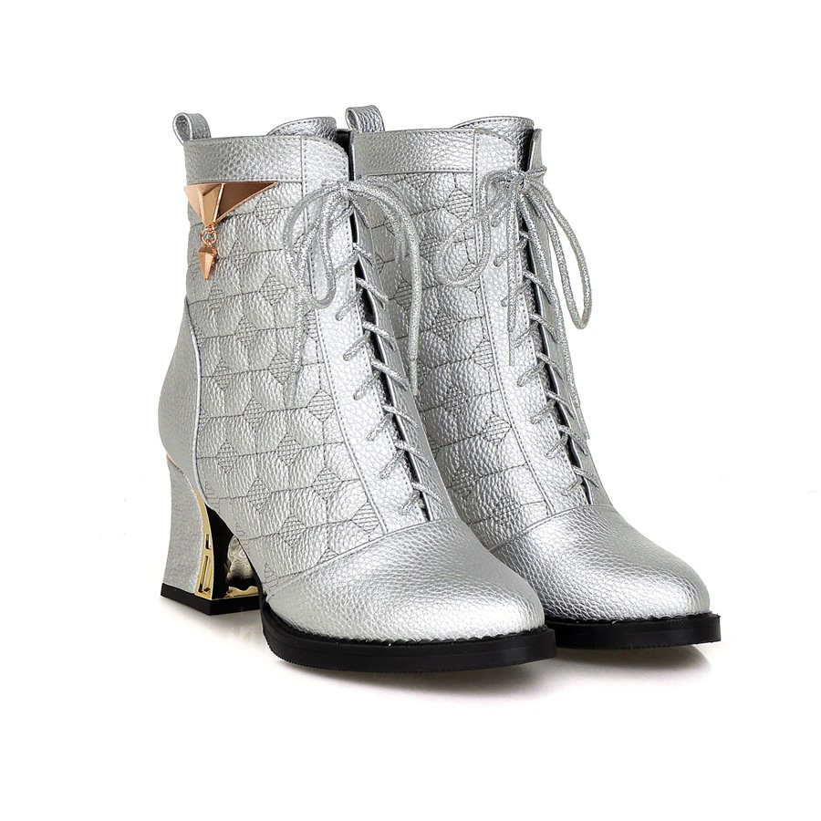 Popular WOMENS WHITE LACE WOODEN HEEL PLATFORM LADIES LACE UP ANKLE BOOTS SIZE 3-8 | EBay