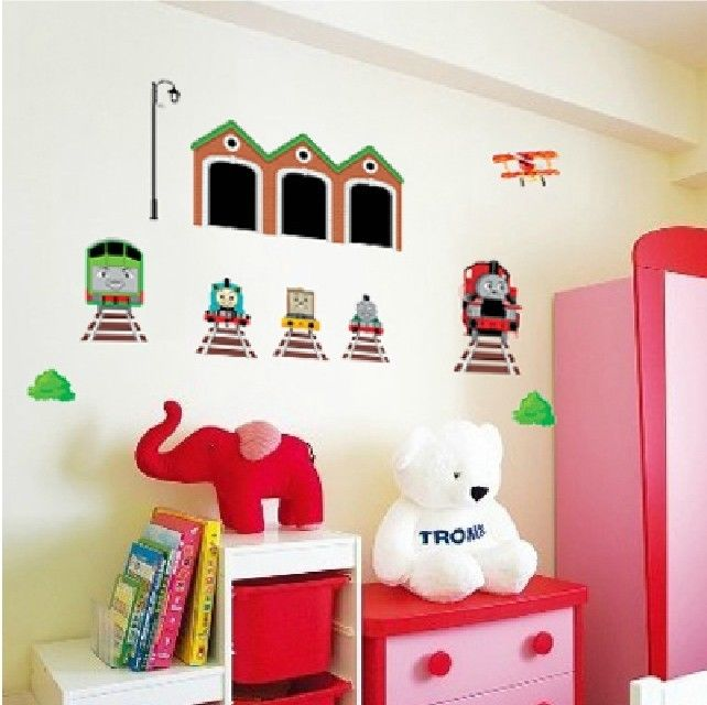 thomas the train tank engine wall stickers decals kids in wall stickers from home kitchen. Black Bedroom Furniture Sets. Home Design Ideas