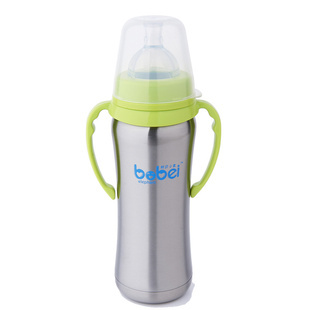 BPA Free Baby stainless steel insulation bottle newborn baby  advanced anti-colic system feel more natural feeding 200ml<br><br>Aliexpress