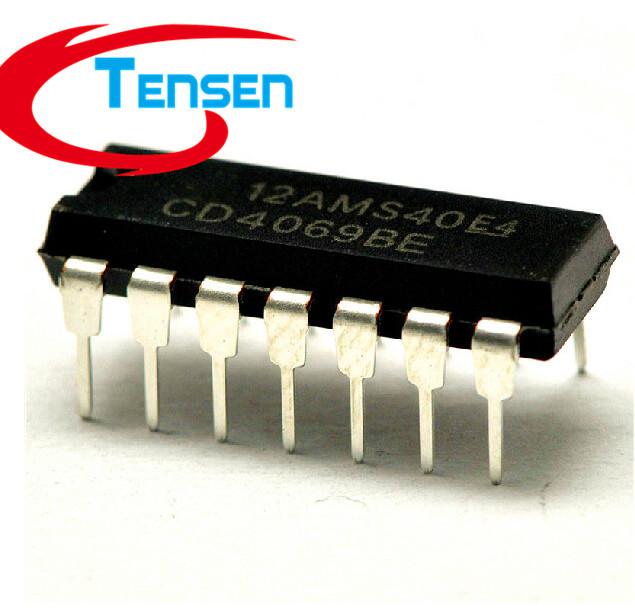 10Pcs/Lot CD4069 CD4069UBE CD4069BE common logic chips DIP14 CD Digital IC(China (Mainland))