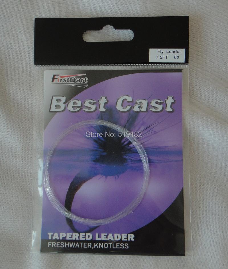 5pcs 0x 7.5ft fly fishing tapered leader(China (Mainland))