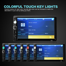 """2 Din Car Video Player DVD 7"""" TFT Touch Screen Bluetooth Radio Audio Stereo MP5 Player Support AUX FM USB SD MMC Remote Control(China (Mainland))"""