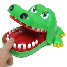 Funny Design 1PC Children Kid Educational Crocodile Toy Remove Pulling Teeth Game Bite Finger Toys New(China (Mainland))