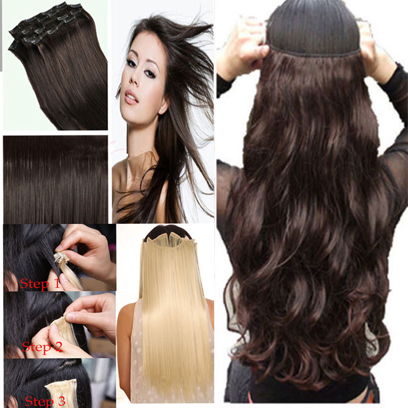 Maga Hair Long Thick 17 24 Full Head Clip in on Hair Extensions 8 PCS/SET 18 CLIPS 170g Curly Wavy Hair US Stock<br><br>Aliexpress