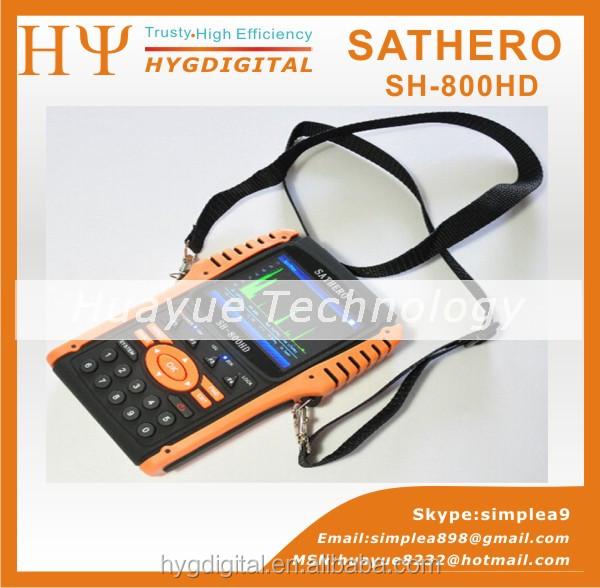 Original Sathero SH-800HD DVB-S2 Digital Satellite Finder Meter SH-800 USB2.0 HD Output Sat finder HD with Spectrum Analyzer(China (Mainland))