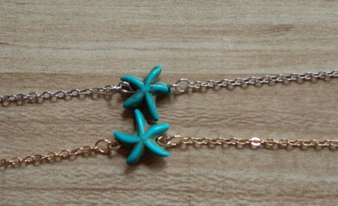 SL 0224 starfish bracelet 2017 fashion retro sea star couple bracelet friends beautiful gift factor