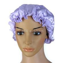 Free Shipping Pure Silk Night Sleep Cap Sleeping Cap Hat - Purple(China (Mainland))