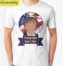 Buy 2016 election trump hair funny donald trump Print short Sleeve T Shirt Men O-Neck Casual Men T-Shirt Cotton T Shirts Plus Size for $20.80 in AliExpress store