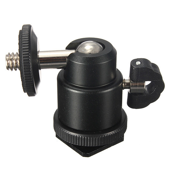 Hot Sale 1 4 Hot Shoe Adapter Cradle Ball Head with Lock for Camera Tripod LED