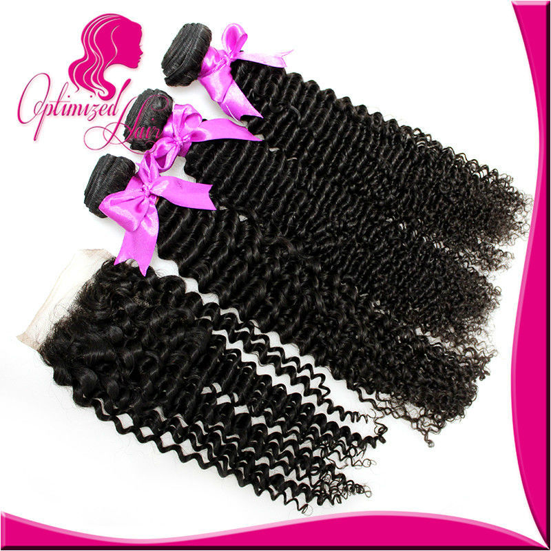 8A Peruvian Virgin Hair With Closure Peruvian Curly Hair Bundles with Lace Closures virgin Hair Products 3 Bundles with Closure