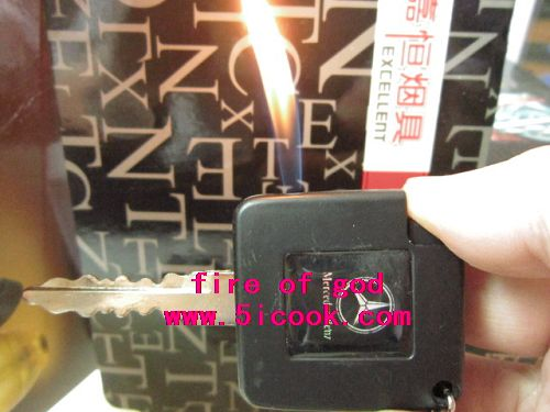 20piece /lot,Free shipping $1.89 piece car key lighter cigarette, refillable lighter Key chain(China (Mainland))