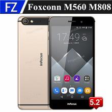 "Original gold Foxconn M560 M808 5.2"" IPS FHD MTK6753 octa core Android 5.1 4G LTE cellphone 13MP 2GB RAM 32GB ROM dual sim GPS(China (Mainland))"