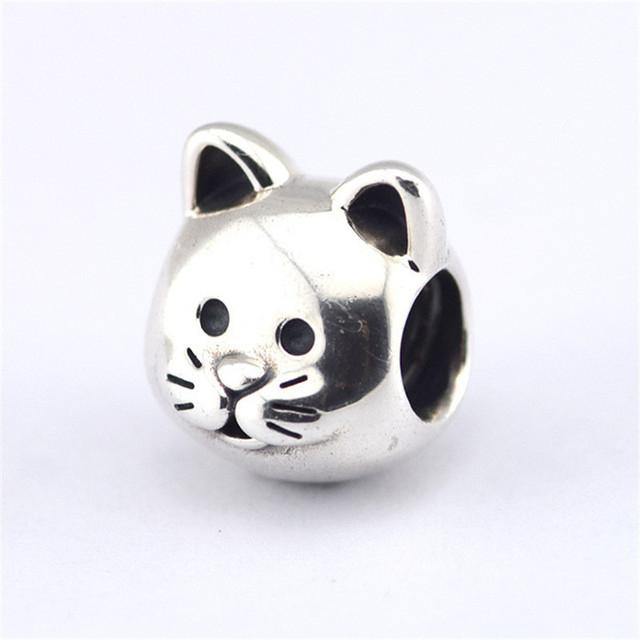 Бусины предварительно - осень стиль S925 серебро изысканные Jewerly любопытный кошка DIY изделий подходит известный бренд очаровывает браслеты и ожерелье