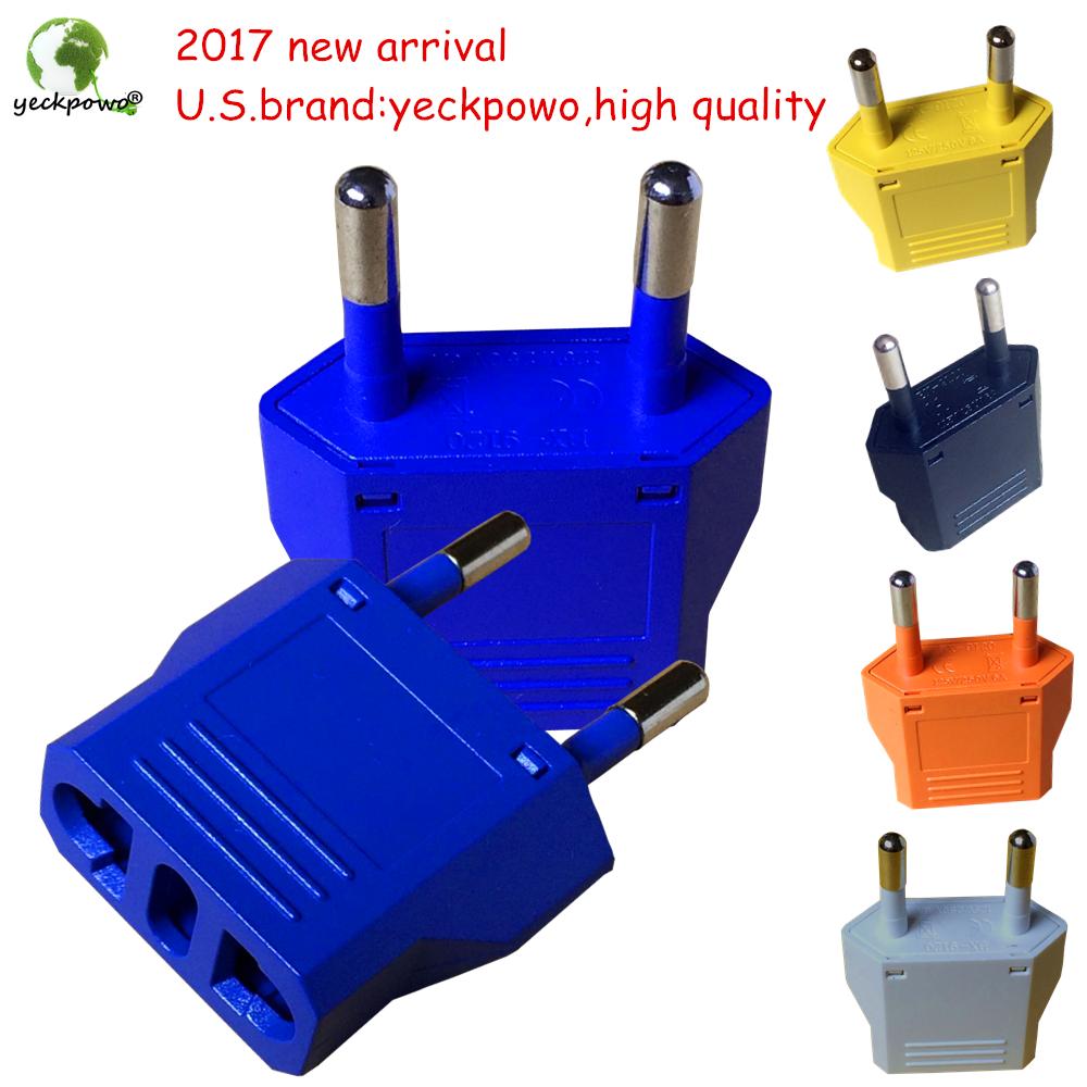 U.S.brand yeckpowo! 5 pcs US to EU Plug adaptor plug convertor Travel Adapter Power Converter Wall Plug(China (Mainland))
