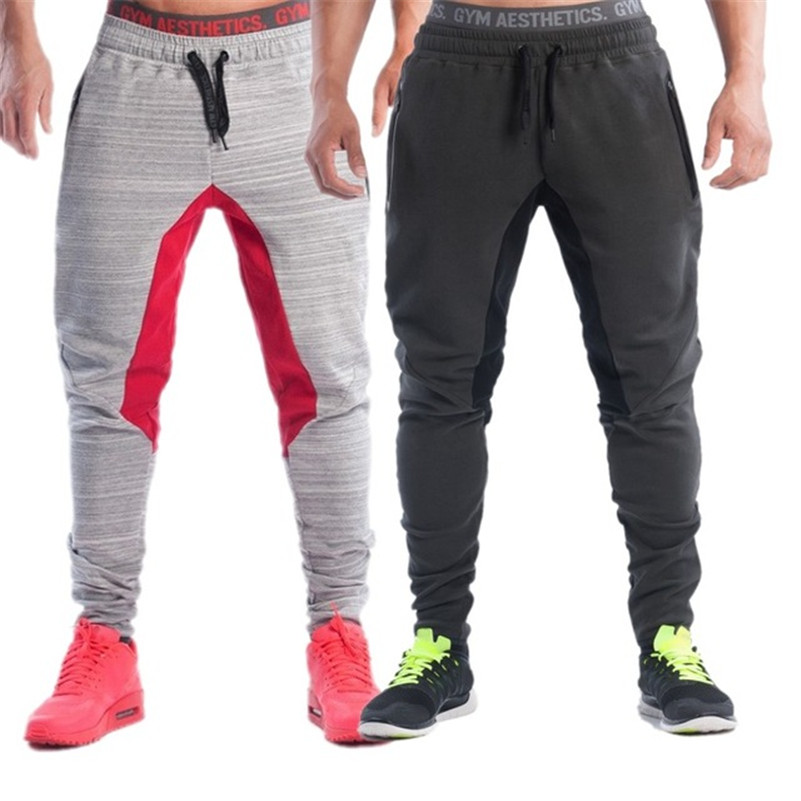 Male Fitness Pants Sweat Pants Men Gym Aesthetics Pan Sport Wear For Runners Gray Clothing Thin Jogging Sweat Trousers Boys(China (Mainland))