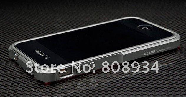 *10pieces /lot* wholesale BLADE PREMIUM ALUMINUIM METAL BUMPER frame case FOR IPHONE 4s 4G(China (Mainland))