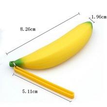 New Fashion Banana Coin Pencil Case Girls Novelty Men Women Silicone Portable Purse Bag Wallet Unisex