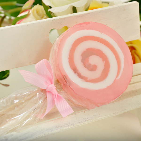 Natural No stimulation Children Oil Soap Handmade Lollipop modeling kids Clean Soaps Wedding party favor Gifts(China (Mainland))