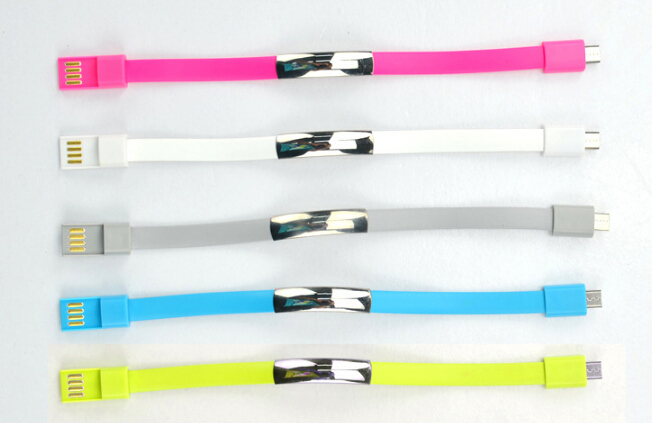 22cm 150pcs New micro usb Bracelet cable Charger Data Sync Cord Wristband For Samsung Galaxy S4 S3 For HTC /LG SmartPhone(China (Mainland))