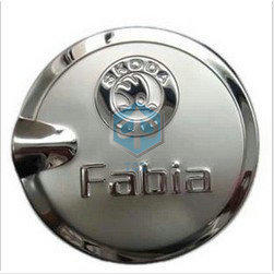 Free shipping Skoda Fabia 2008 2009 2011 2012 2014 2015 Special stainless steel oil tank emblems car accessories styling brembo(China (Mainland))