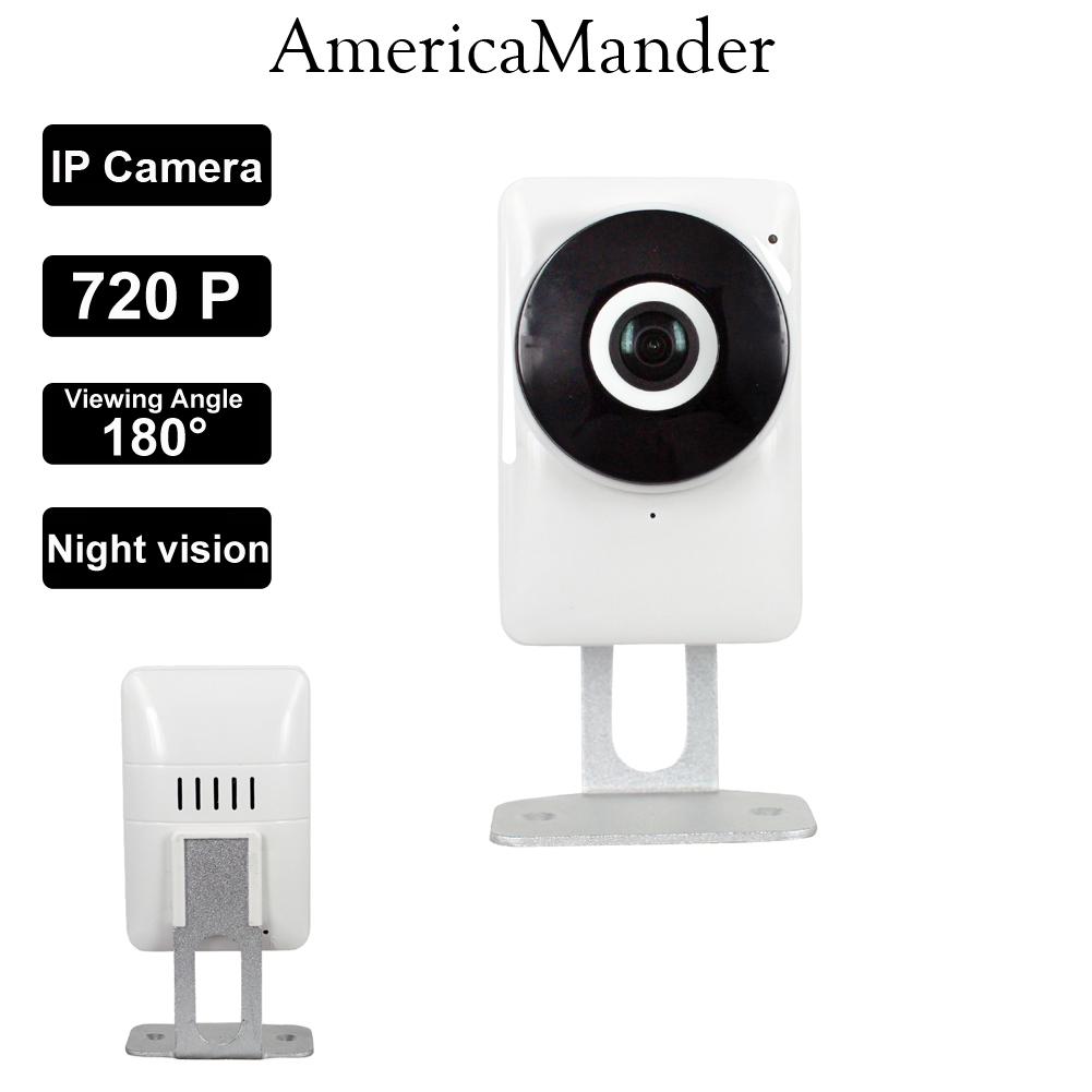 180 Degree Mini WiFi Panoramic IP Camera HD 720P Fisheye Micro SD Camera Wireless Network Audio Surveillance Night Vision Cam(China (Mainland))