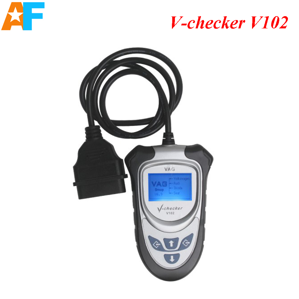 Free shipping ! V-CHECKER V102 VAG PRO Code Reader Without CAN BUS Support all electronic systems of VAG Vehicles(China (Mainland))