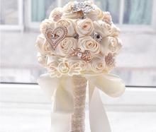 """""""Fatto a mano rose"""" 2015 new bouquet da sposa accessori da sposa spilla di cristallo della perla bouquet sposa azienda fiori  (China (Mainland))"""