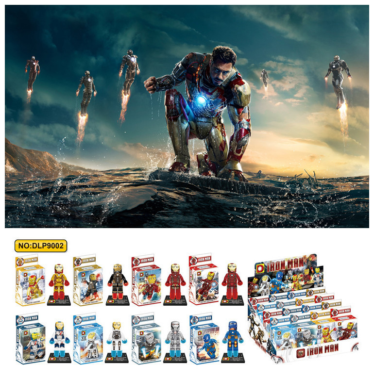 Villa New Marvel Avengers Super Heroes Iron Man 3 Building Blocks Minifigures Bricks Toys For Kids Gift Compatible With Lego(China (Mainland))