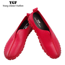 Buy YGF Women Platform Loafer Slip Casual Shoes 2017 Fashion Leather Flats Handmade Shoes Comfortable Soft Woman Flats Creepers for $15.26 in AliExpress store