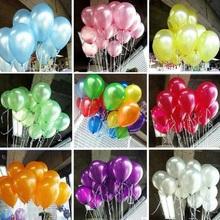 Бесплатные 100шт доставки / много оптовых 10 дюймовые латексные шары, круглые воздушные шары, партия украшения, Перл воздушный шар
