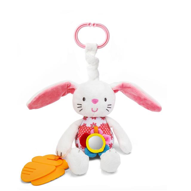 0 + мягкий кролик ребенок плюшевые куклы детские кольцо колокол кроватки кровать висит животных игрушка прорезыватель многофункциональный кукла детские игрушки WJ265