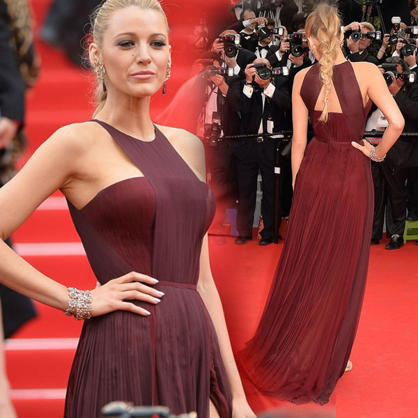 Blake Lively Red Dress - KD Dress