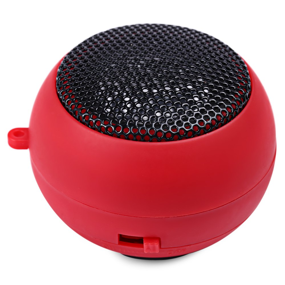 Hot Selling Songli - 12004 Mini Hamburger HiFi USB Stereo Speaker Full-range Sound For iPhone iPod MP3 MP4 free shipping -red(China (Mainland))