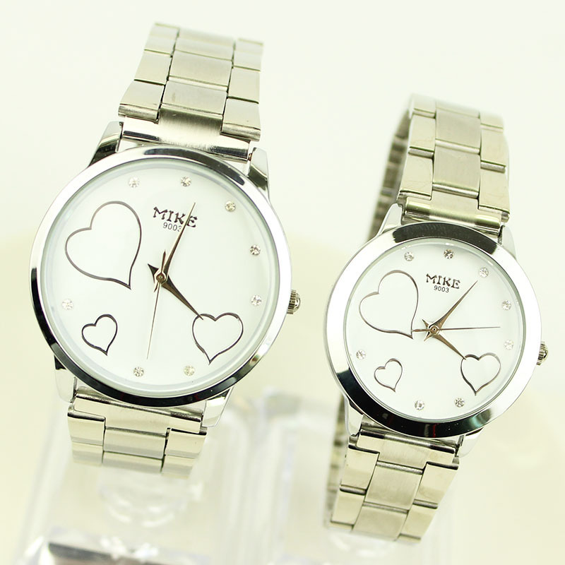 A generation of fat Korean fashion brand of high-end Swiss watches love strip couple tables quartz watch waterproof(China (Mainland))