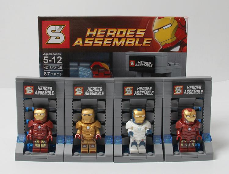 240pcs/lot SY213 The Avengers 2 iron man Hall of Armor block toys Age Of Ultron iron man War Machine minifigures<br><br>Aliexpress