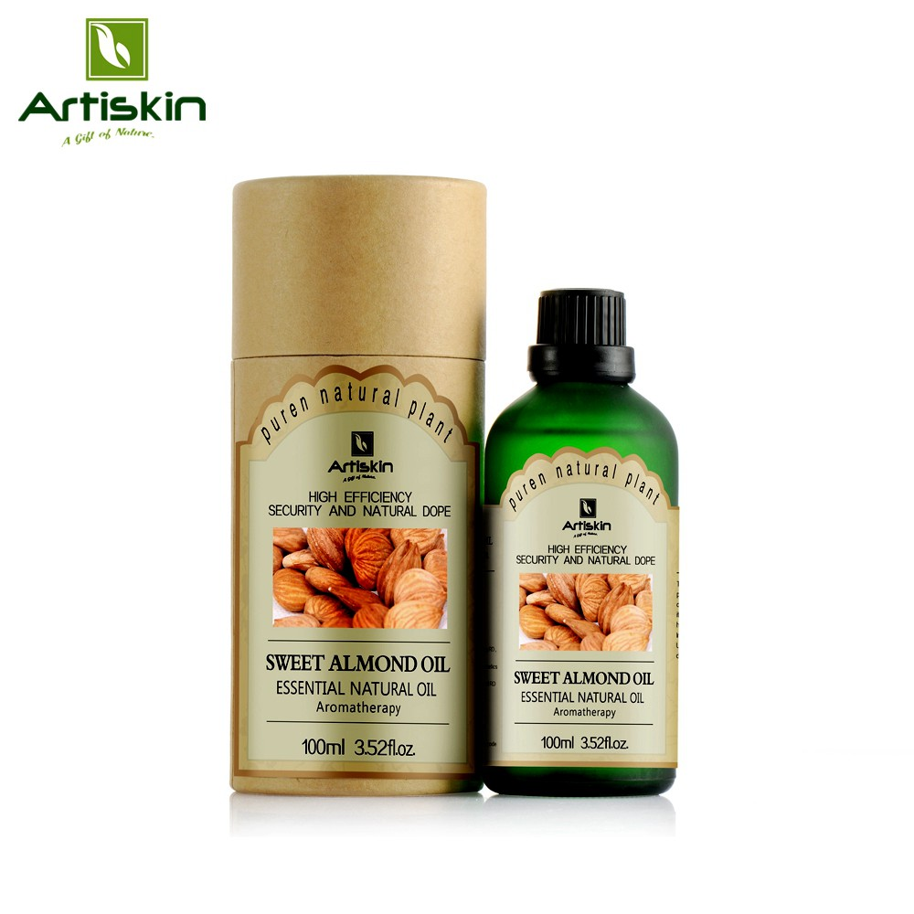 100ml Sweet Almond Oil for Hydrating & moisturizing, Smooth Skin, Hair Care, Facial Skin Care Body Massage Oil SPA Essential oil(China (Mainland))