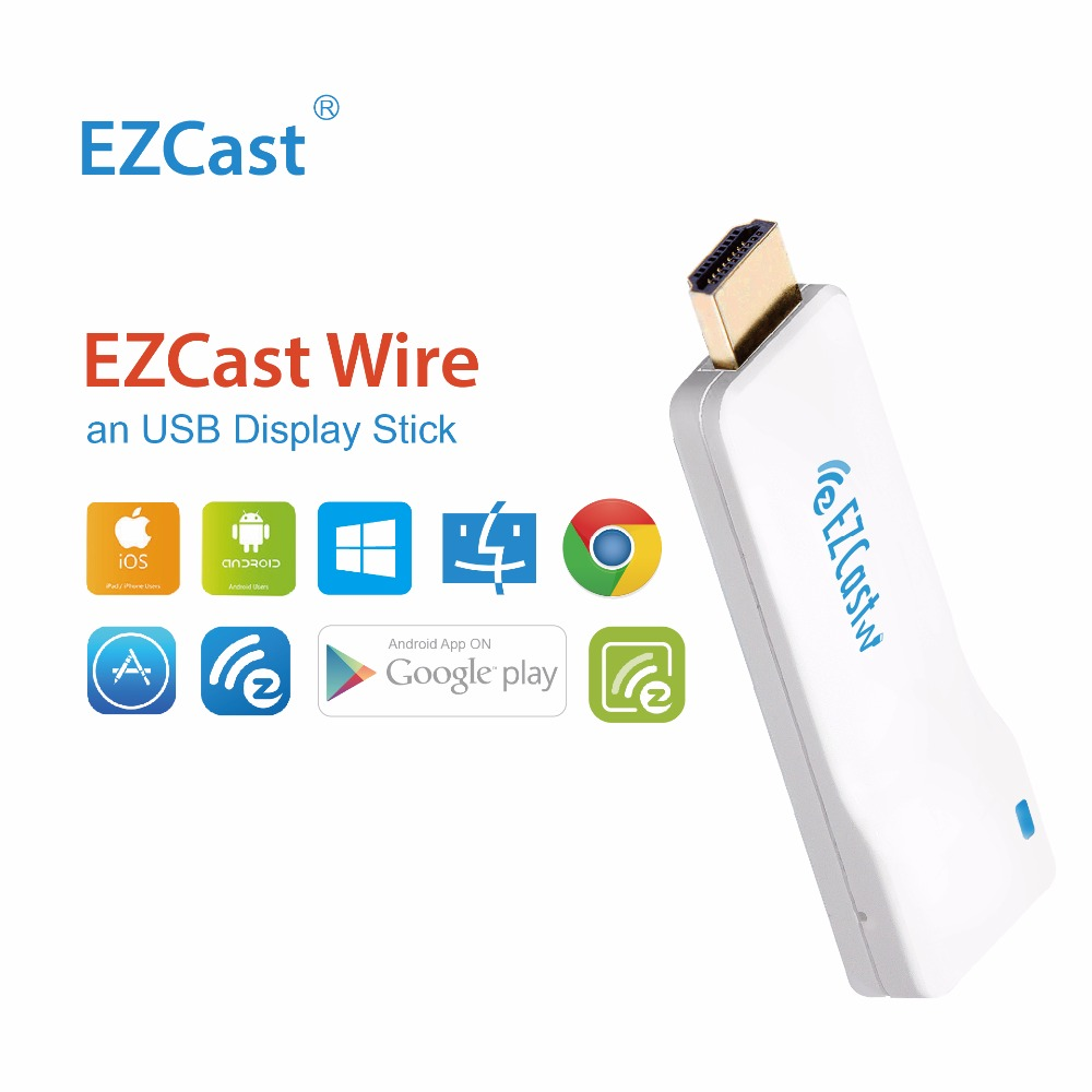 EZCast Wire OTA TV Dongle 1080P Display TV Stick Streaming Mirroring HDMI Converter Support Chromecast Iphone Android Windows(China (Mainland))