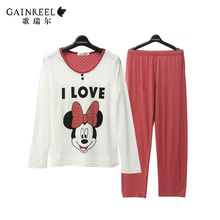 Song Riel autumn cartoon cotton men and women can Waichuan pajamas comfortable tracksuit couple Si Qin