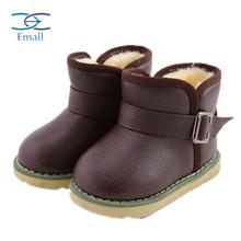 Зима мех сапоги младенцы обувь мальчики младенцы снегоступы девочки короткая сапоги резина подошвой против — скольжение девочка тёплый сапоги дети обувь